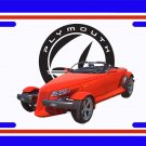 NEW 1999 Red Plymouth Prowler License Plate FREE SHIPPING!