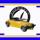 NEW 2000 Yellow Plymouth Prowler License Plate FREE SHIPPING!