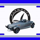 NEW 2001 Silver Plymouth Prowler License Plate FREE SHIPPING!