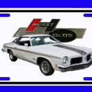 NEW 1974 White Hurst Olds License Plate FREE SHIPPING!