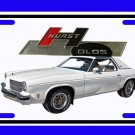 NEW 1975 White Hurst Olds License Plate FREE SHIPPING!