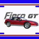 NEW 1987 Red Pontiac Fiero GT w/ GT Logo License Plate FREE SHIPPING!