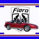 NEW 1987 Red Pontiac Fiero GT w/ Fiero Logo License Plate FREE SHIPPING!