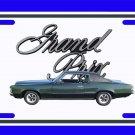 NEW Green 1969 Pontiac Grand Prix License Plate FREE SHIPPING!