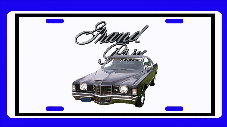 NEW Black 1972 Pontiac Grand Prix License Plate FREE SHIPPING!