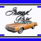 NEW Copper 1977 Pontiac Grand Prix License Plate FREE SHIPPING!