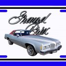 NEW Silver 1977 Pontiac Grand Prix License Plate FREE SHIPPING!