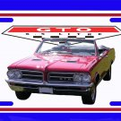 NEW Red 1964 Pontiac GTO Convertible License Plate FREE SHIPPING!