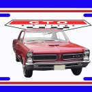 NEW Red 1965 Pontiac GTO License Plate FREE SHIPPING!