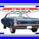 NEW Blue 1966 Pontiac GTO License Plate FREE SHIPPING!