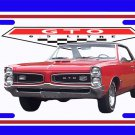 NEW Red 1966 Pontiac GTO License Plate FREE SHIPPING!