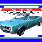 NEW Turquoise 1966 Pontiac GTO License Plate FREE SHIPPING!