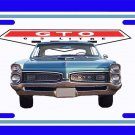 NEW Blue 1967 Pontiac GTO License Plate FREE SHIPPING!