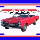 NEW Red 1967 Pontiac GTO Convertible License Plate FREE SHIPPING!