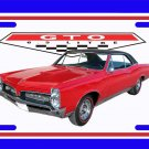NEW Red 1967 Pontiac GTO License Plate FREE SHIPPING!