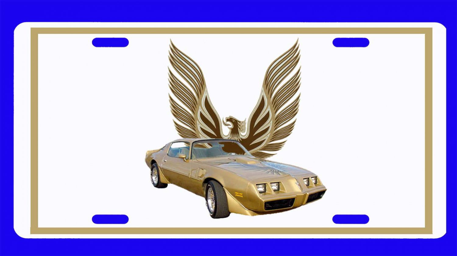 NEW 1979 Gold Pontiac Trans AM License Plate FREE SHIPPING!