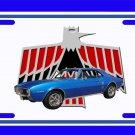 NEW 1967 Blue Pontiac Firebird License Plate FREE SHIPPING!