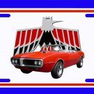 NEW 1967 Red Convertible Pontiac Firebird License Plate FREE SHIPPING!