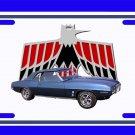 NEW 1969 Blue Pontiac Firebird License Plate FREE SHIPPING!