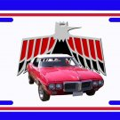 NEW 1969 Red Convertible Pontiac Firebird License Plate FREE SHIPPING!
