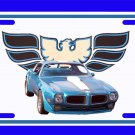 NEW 1970 Blue Pontiac Firebird Trans AM License Plate FREE SHIPPING!
