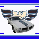 NEW 1970 White Pontiac Firebird Trans AM License Plate FREE SHIPPING!