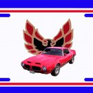 NEW 1970 Red Pontiac Formula Firebird License Plate FREE SHIPPING!
