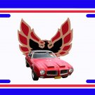 NEW 1971 Red Pontiac Formula Firebird License Plate FREE SHIPPING!