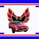 NEW 1971 Red and Black Pontiac Formula Firebird License Plate FREE SHIPPING!