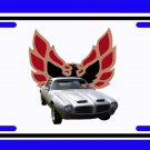 NEW 1971 Silver Pontiac Formula Firebird License Plate FREE SHIPPING!