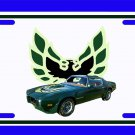 NEW 1973 Brewster Green Pontiac Firebird Trans AM License Plate FREE SHIPPING!