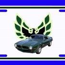 NEW 1973 Brewster Green Eagle Delete Pontiac Firebird Trans AM License Plate FREE SHIPPING!