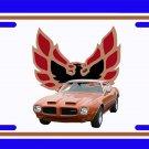 NEW 1973 Brown Pontiac Formula Firebird License Plate FREE SHIPPING!