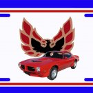 NEW 1973 Red Pontiac Firebird Trans AM License Plate FREE SHIPPING!
