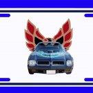 NEW 1974 Blue Pontiac Firebird Trans AM License Plate FREE SHIPPING!