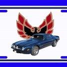 NEW 1974 Blue Eagle delete Pontiac Firebird Trans AM License Plate FREE SHIPPING!