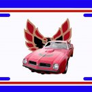 NEW 1974 Red Pontiac Firebird Trans AM License Plate FREE SHIPPING!