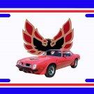 NEW 1975 Red Pontiac Firebird Trans AM License Plate FREE SHIPPING!