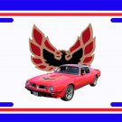 NEW 1975 Red Pontiac Firebird Trans AM w/ t-tops License Plate FREE SHIPPING!
