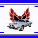NEW 1975 Silver Pontiac Firebird Trans AM License Plate FREE SHIPPING!