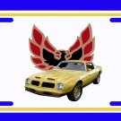 NEW 1975 Yellow  Pontiac Firebird Trans AM License Plate FREE SHIPPING!