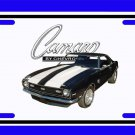 NEW 1968 Black Chevy Camaro SS License Plate FREE SHIPPING!