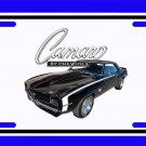 NEW 1969 Black Chevy Camaro RS/SS License Plate FREE SHIPPING!