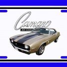 NEW 1969 Gold Chevy Camaro SS License Plate FREE SHIPPING!