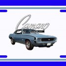 NEW 1969 Lt. Blue Chevy Camaro RS/SS License Plate FREE SHIPPING!
