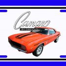 NEW 1969 Orange Chevy Yenko Camaro w/Camaro Logo License Plate FREE SHIPPING!