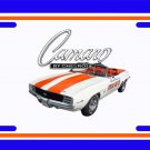 NEW 1969 Chevy Camaro  Pace Car License Plate FREE SHIPPING!
