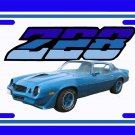 NEW 1979 Blue Chevy Camaro  Z28 License Plate FREE SHIPPING!