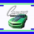 NEW 2010 Synergy Green Chevy Camaro License Plate FREE SHIPPING!