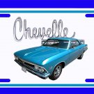 NEW 1966 Blue Chevy Chevelle w/ Chevelle Logo License Plate FREE SHIPPING!